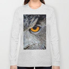 NIGHT OWL - EYE - CLOSE UP PHOTOGRAPHY - ANIMALS - NATURE Long Sleeve T-shirt