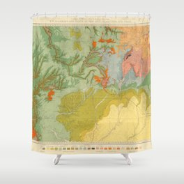 Vintage Southwest Map Shower Curtain