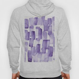 Purple Watercolour Patterns | 190129 Abstract Art Watercolour Hoody