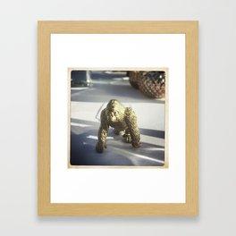 Golden Gorilla Framed Art Print