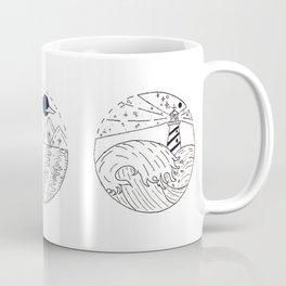 Nautical Themed Design Trio — Nautical Landscapes Illustration Coffee Mug