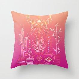 Santa Fe Garden – Pink Sunset Throw Pillow