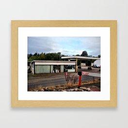 garage near alston, cumbria/ oct 2010 Framed Art Print