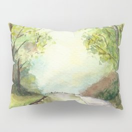 Trees by the canal Pillow Sham
