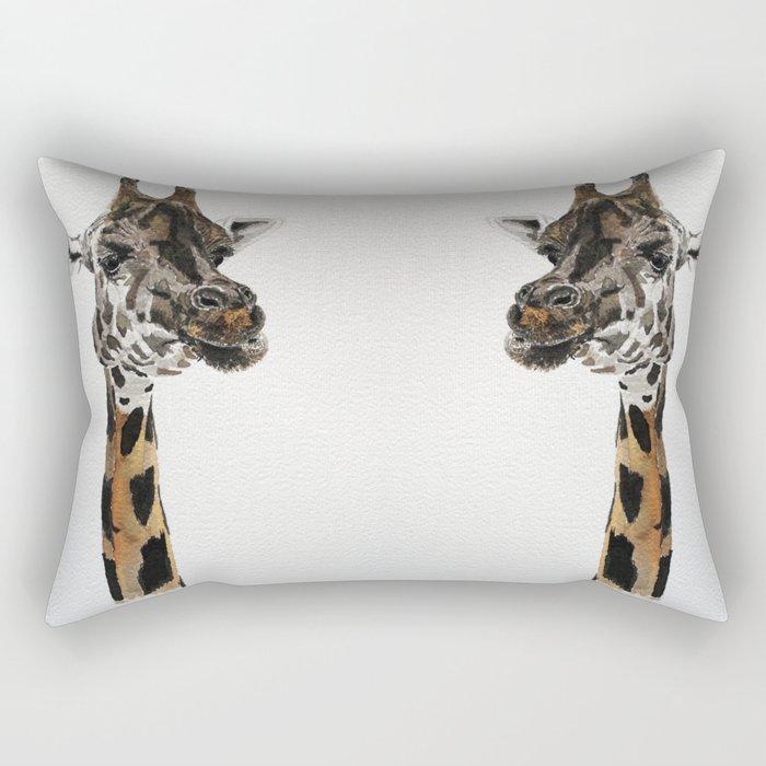 Giraffa camelopardalis Rectangular Pillow