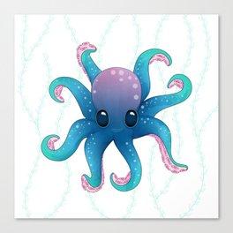 Octopus friend Canvas Print