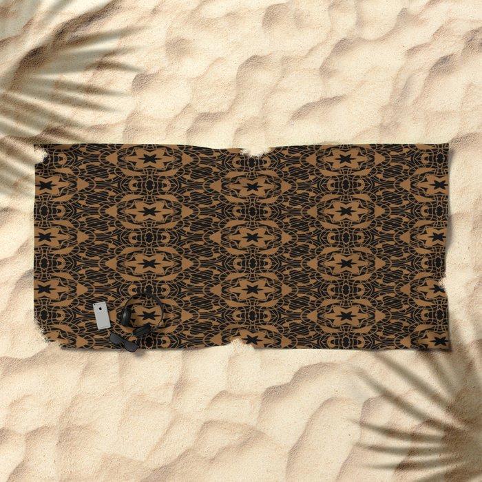 Black and Bronze Kaleidoscopes 2671 Beach Towel