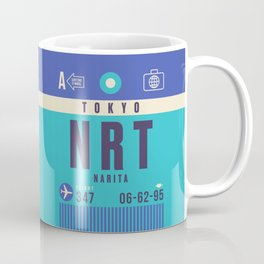 Retro Airline Luggage Tag - NRT Tokyo Narita Coffee Mug