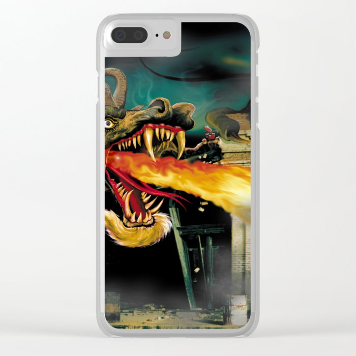 Barton The Mutant Salamander Clear iPhone Case