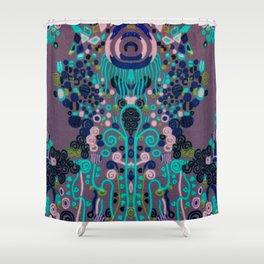 """Gustav Klimt """"Textile design - Model 2"""" edited (1) Shower Curtain"""