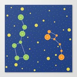 Citrus constellations Canvas Print