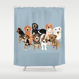 Hound District Shower Curtain