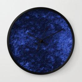 Royal blue navy velvet Wall Clock