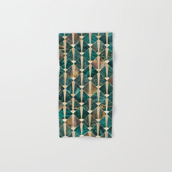 Art Deco Tiles - Ocean Hand & Bath Towel