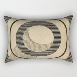 Vintage Saturn From Above Rectangular Pillow