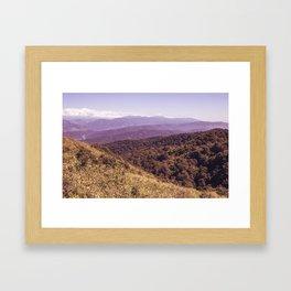 Violet Hills Framed Art Print