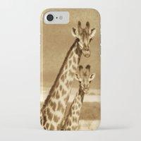 giraffes iPhone & iPod Cases featuring Giraffes by haroulita