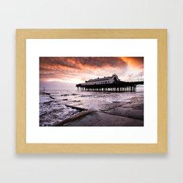 High tide at the Pier Framed Art Print