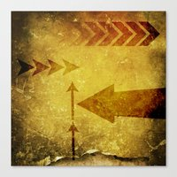 arrows Canvas Prints featuring Arrows by Leah M. Gunther Photography & Design