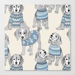 blue beagle Canvas Print