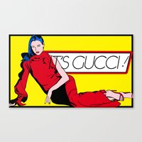 gucci Canvas Prints featuring Gucci! by Alli Vanes