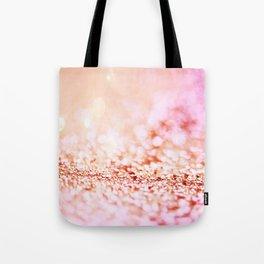 Pink shiny glitter - Sparkle Girly Valentine Backdrop Tote Bag
