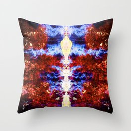 Her Holiness the Electrified Alien Throw Pillow