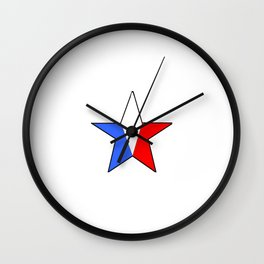 Flag of France 14- France, Français,française, French,romantic,love,gastronomy Wall Clock