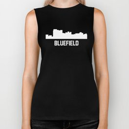 Bluefield West Virginia Skyline Cityscape Biker Tank