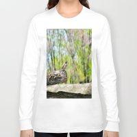 sparrow Long Sleeve T-shirts featuring Sparrow by KimberosePhotography