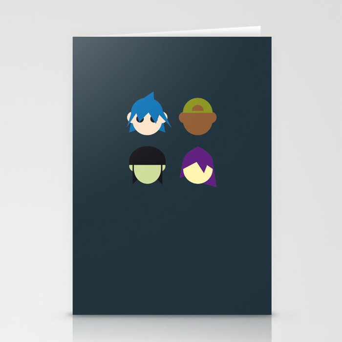 Famous Capsules - Gorillaz Stationery Cards