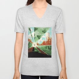 The world that wakes, the world that dreams Unisex V-Neck