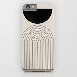 Arch, geometric modern art iPhone Case