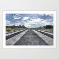 Runway in Tuvalu Art Print