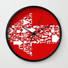Wrong Way! Wall Clock