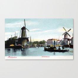 Rotterdam Achterhaven 1890 Canvas Print