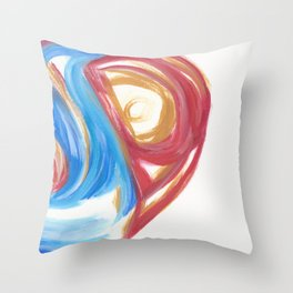 Torn in the Cycle 3 Throw Pillow