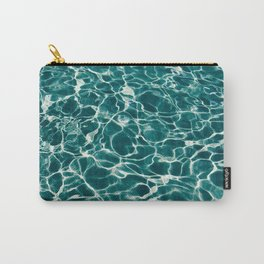 Blue Turquoise Teal Water Pattern Sunlight Reflecting Shimmering Carry-All Pouch