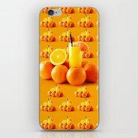 orange pattern iPhone & iPod Skins featuring Orange Pattern by Azeez Olayinka Gloriousclick