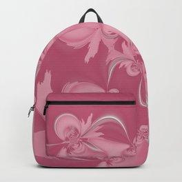 Pink Fractal Flowers Backpack