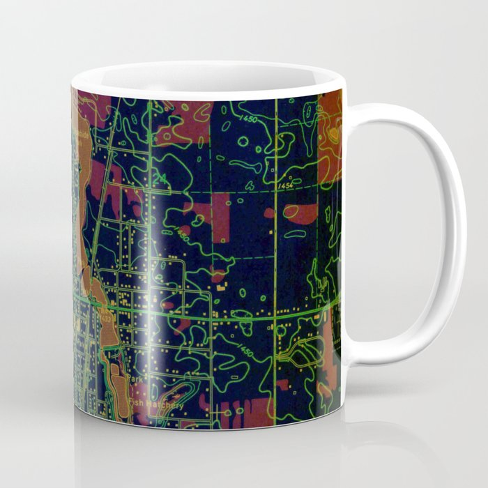 Park Rapids old map year 1969, united states old maps, colorful art Coffee Mug