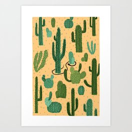 The Snake, The Cactus and The Desert Art Print