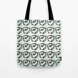 Rows of Flowers, Mint Green Tote Bag