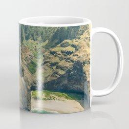 Aerial view Na Pali Coast, Kauai, Hawaii Coffee Mug