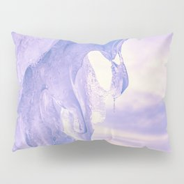 Ice cliff of Lake Baikal Pillow Sham