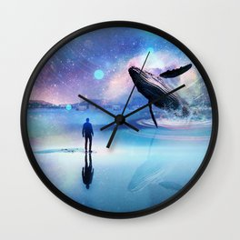 Walking with Whales Wall Clock
