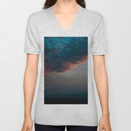 Sunset Over the Blue Ridge Mountains Unisex V-Neck