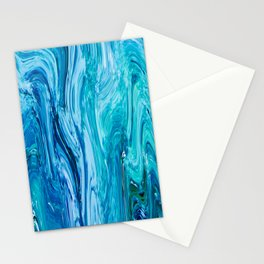 436 - Abstract water design Stationery Cards