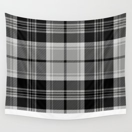 Black & White Tartan (var. 2) Wall Tapestry