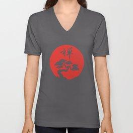 Buddhism Meditation Yoga Bonsai Zen Enso Circle Vintage Om design Unisex V-Neck